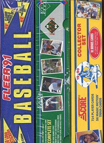 1990 Score Upper Deck 1991 Fleer Baseball Card Collection Complete (1991 Upper Deck Baseball Card Set)
