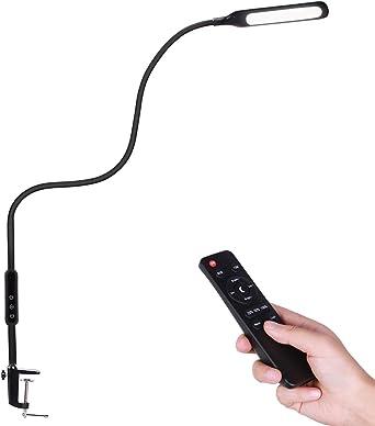 Lámpara Escritorio LED con Mando Remoto, AVAWAY Lámpara de Mesa ...