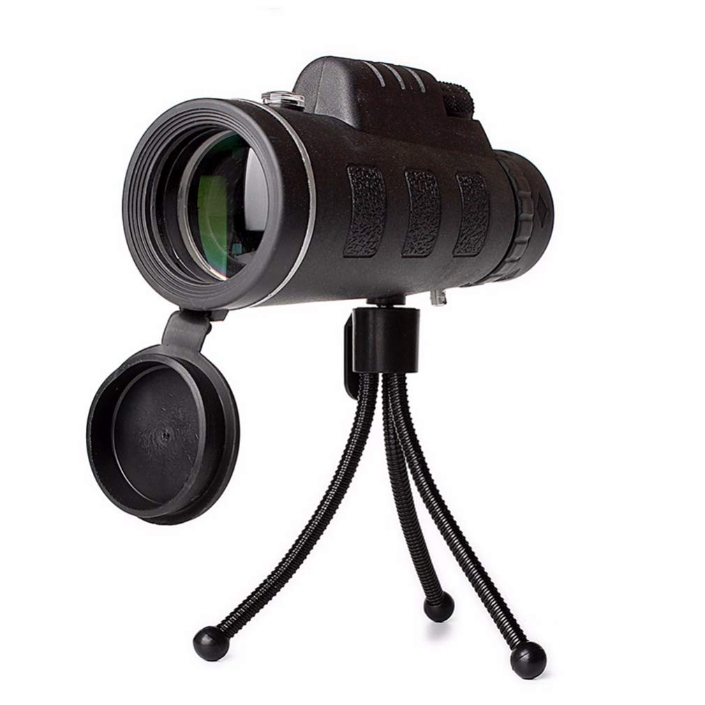 EBRICKON 40X60 Zoom Monocular Telescope Night Vision Scope for Smartphone Camera Camping Hiking Fishing with Compass Phone Clip Tripod