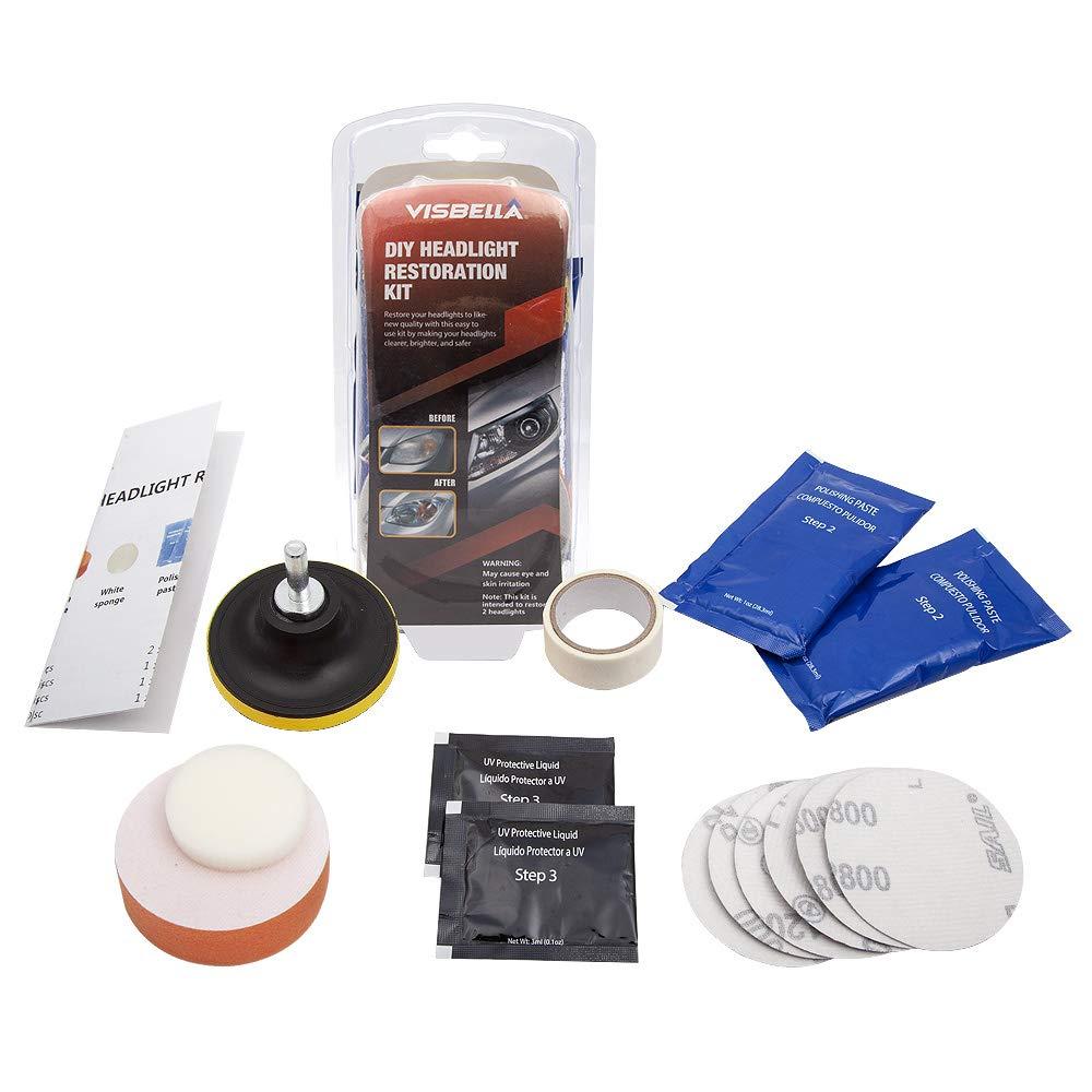pr/é-perc/ée et r/ésistante Mookis Kit de restauration de phares de v/éhicule /à monter soi-m/ême restauration de phares avec protection UV