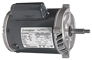 Marathon C337 56J Frame Open Drip Proof 5KC49NN2167X Jet Pump Motor, 1-1/2 hp, 3600 RPM, 115/230 VAC, 1 Phase, 1 Speed, Ball Bearing, C-Face, Capacitor Start