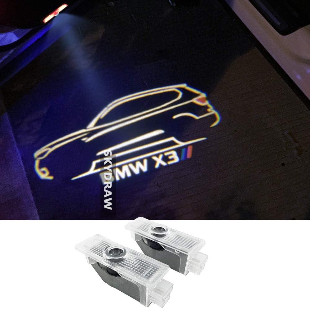 4 pezzi illuminazione dellingresso della luce dellautomobile LED 3D luce della lampada del logo del proiettore di benvenuto