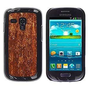 "Pulsar Snap-on Series Teléfono Carcasa Funda Case Caso para Samsung Galaxy S3 MINI ( NOT for regular S3 , Textura del modelo del metal de Brown rústico"""
