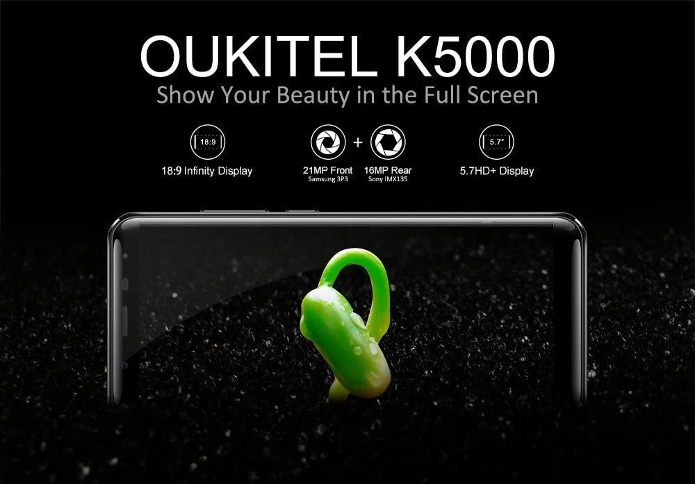 Oukitel K5000 - 4G Smartphone Libre (Android 7.0, 5.7