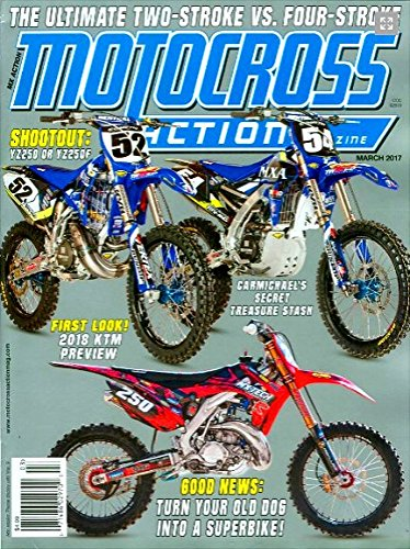 MOTOCROSS ACTION Magazine March 2017 YZ250 or YZ250F, for sale  Delivered anywhere in USA