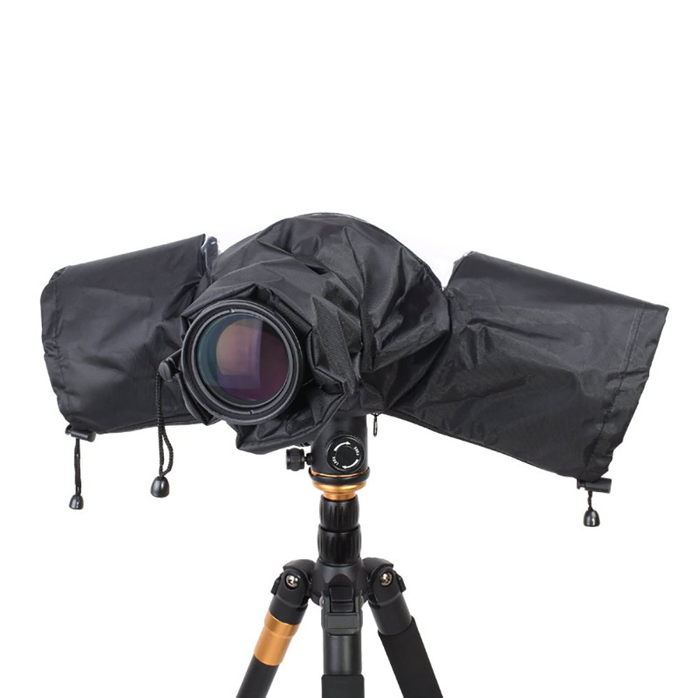 Professional Camera Waterproof Rain Cover for Canon Nikon Pentax DSLR Camera Lens Hood Shield, Photography SLR Camera Rain Sleeve Raincoat
