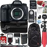 Canon EOS 7D Mark II 20.2MP Digital SLR Camera Wi-Fi Adapter Kit + 64GB Deluxe Power Battery Grip Bundle