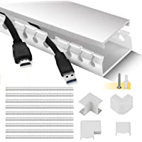 Cable Raceway Kit, Stageek Cable Management System Kit Open Slot Wiring Raceway Duct with Cover, On-Wall Cable Concealer…
