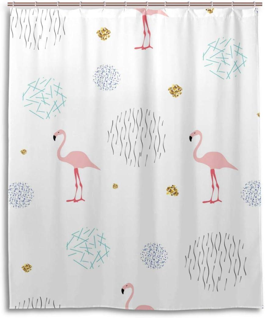 ISAOA impermeabile e resistente alla muffa tenda della doccia africano Fenicotteri rosa lavabile bagno tenda con ganci per accessori da bagno 152,4/x 182,9/cm 150/cm x 180/cm