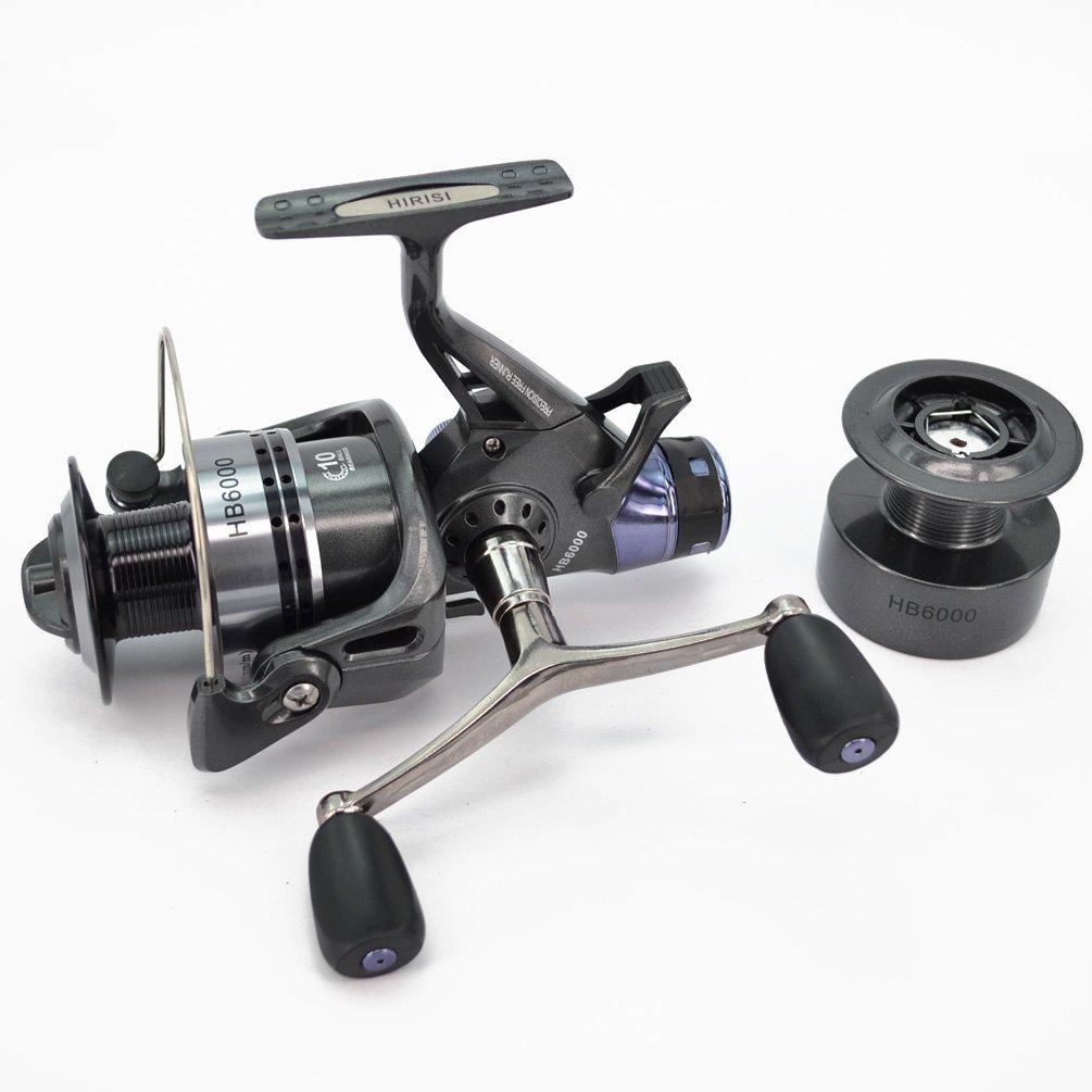 hirisi Tackle® carpa carrete de pesca spinning libre Runner con libre Extra Spool...: Amazon.es: Deportes y aire libre