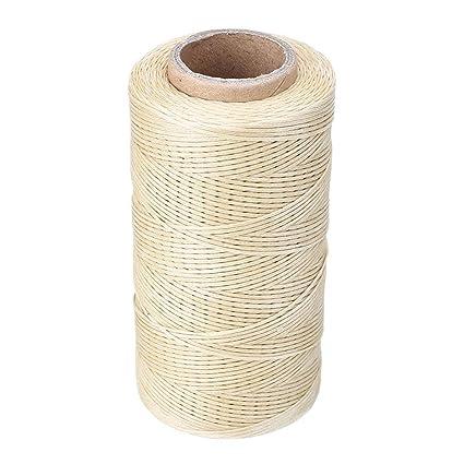 260 Medidor 1 mm 150d Cuero Encerado Cera Cord de hilo Craft para DIY Herramienta Costura