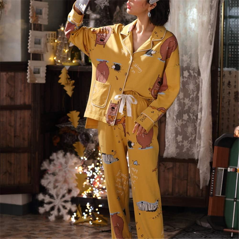DUJUN Pijama Mujer de Algodón Invierno Otoño Mangas Larga ...