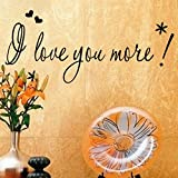 Wall Sticker, Hatop I Love You More Wall Sticker Letters Words Baby Kids Room Bedroom Art Wall Decor Picture
