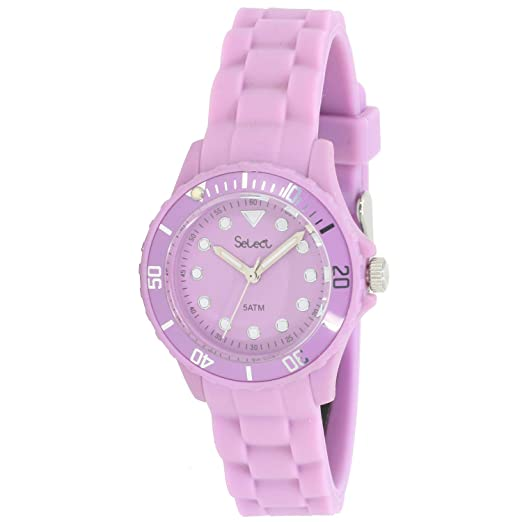 Select Lw-30-19 Reloj Analogico para Mujer Caja De Resina Esfera Color Morado: Amazon.es: Relojes