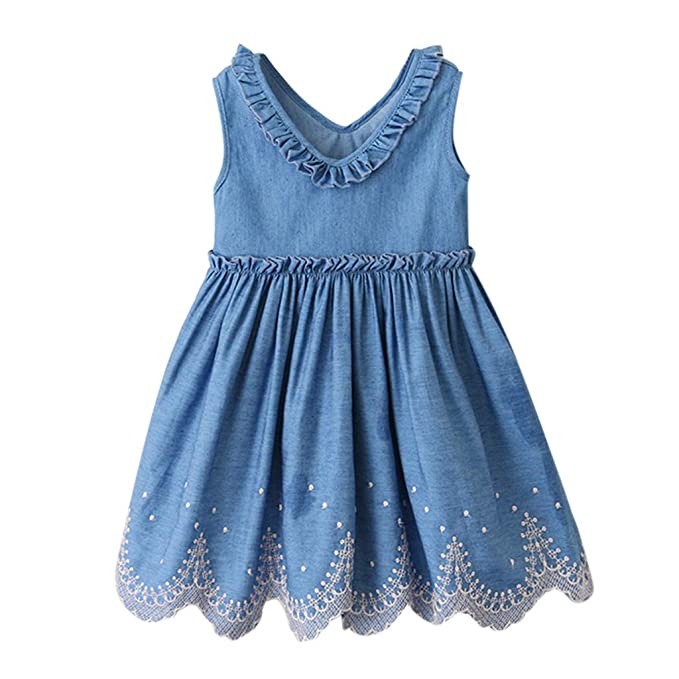Amazon.com: Bebé Niñas Vestido Outfits(2-7Y) Moda Lindo ...