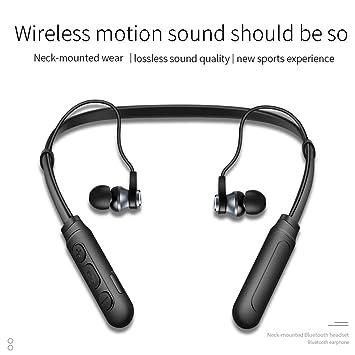 Ofertas de un día! Auriculares Bluetooth, Doltech Auriculares inalámbricos con Banda para el Cuello y Auriculares retráctiles, Auriculares Deportivos con ...