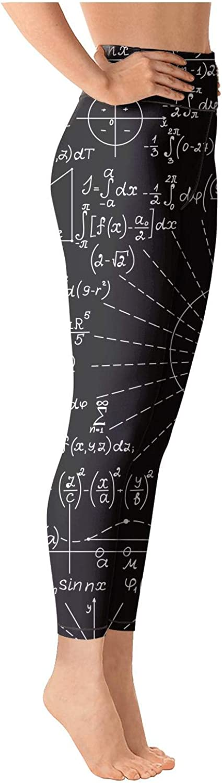 medssii Womens Yoga Pants Math Equations Science Chemistry Light Long Yoga Pants Yoga Leggings with Pockets
