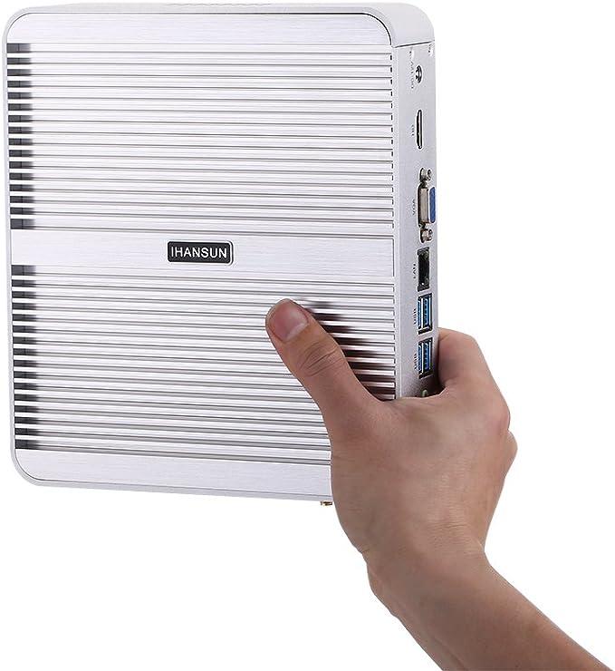 HUNSN Fanless Mini PC,Desktop Computer,HTPC,Kodi Box,Intel Core I3 4020Y,Windows 10 Pro//Linux Ubuntu,BM05,AC WiFi2.4+5Ghz//BT4.0//VGA//HDMI//LAN//4USB3.0//2USB2.0, 8G RAM//128G SSD