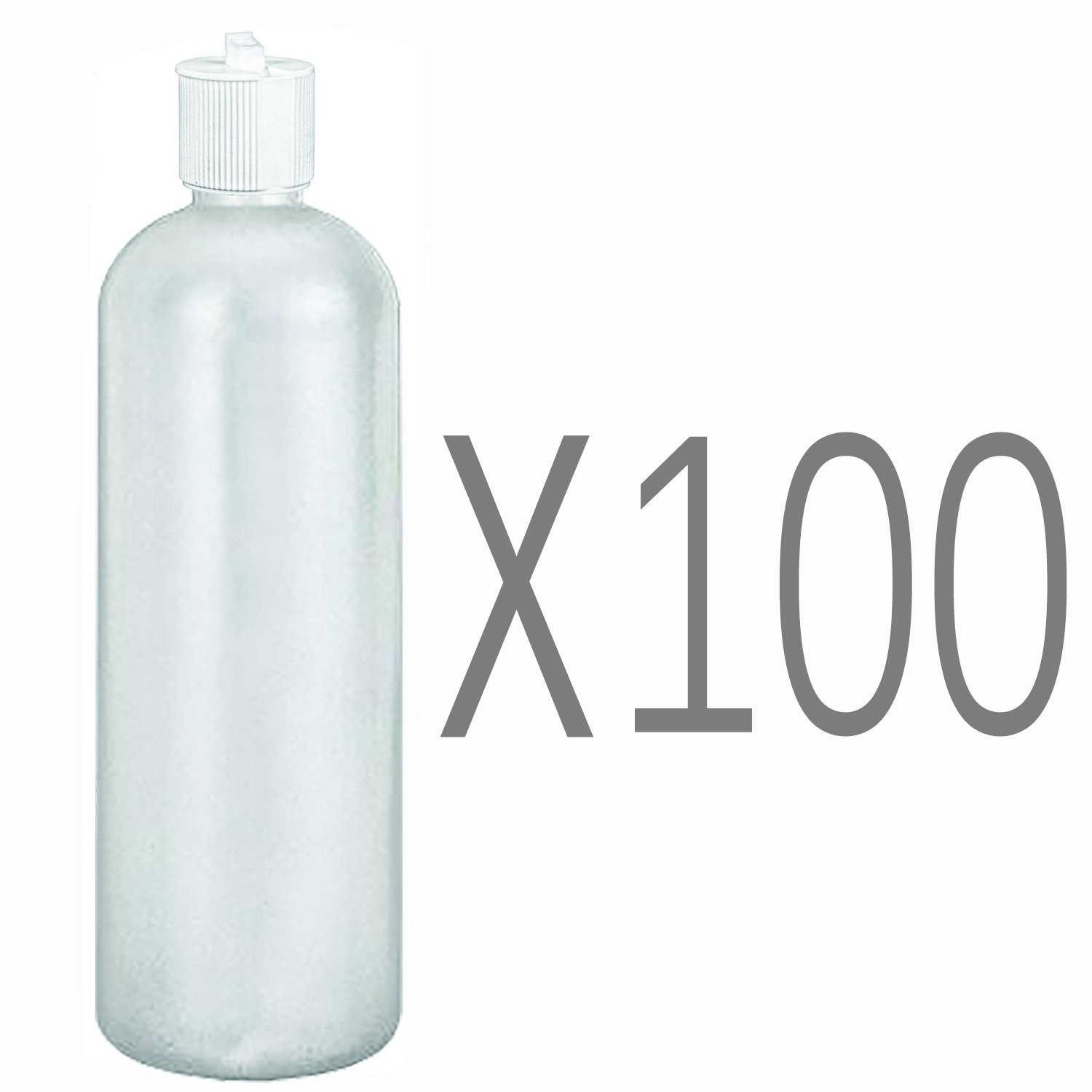 MoYo Natural Labs 32 oz Refillable Squirt Bottles, Empty Travel Containers with Turret Caps, One Quart Travel Bottles, BPA Free HDPE Plastic Squeezable Toiletry/Cosmetics Bottle (Pack of 100, White)