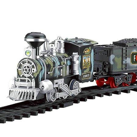 RC Modelo de Tren, Eléctrico Fumar Tren de Juguete Control Remoto Recargable Vehículo Modelo: Amazon.es: Bebé