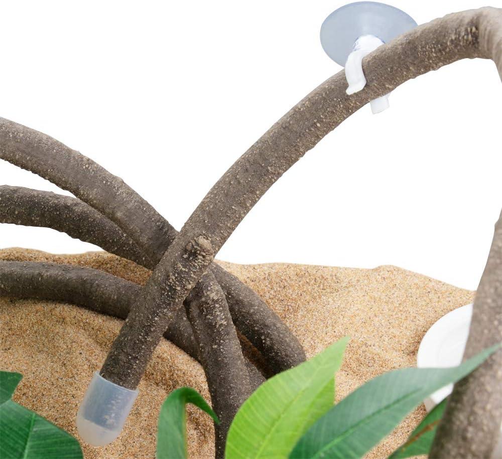 EONMIR 8-Foot Reptile Vines, Flexible Jungle Climber Long Vines Habitat Decor for Climbing, Chameleon, Lizards, Gecko