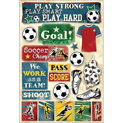 Karen Foster 11588  Design Acid and Lignin Free Scrapbooking Sticker Sheet, Soccer Goal