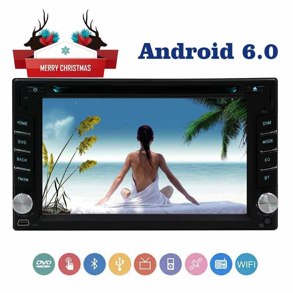 3Dマップ&無線LANをサポートしautoradioダッシュダブルのDIN 2DIN automagnitolヘッドユニットで6.2アンドロイド6.0容量性スクリーン車のDVDプレーヤーカーラジオステレオ B077SWFBZP