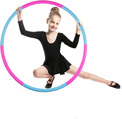 2lb Weighted Hoola Hoop 8 Detachable Sections Hoola Hoops for Adults Hoola Hoop for Kids Weighted Hoola Hoops for Exercise Professional Hoola hoops