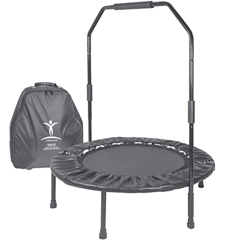 Cellerciser Tri Fold Rebounder Kit   Includes Stabilizing Bar And Wheeled Carrying Case by Cellerciser