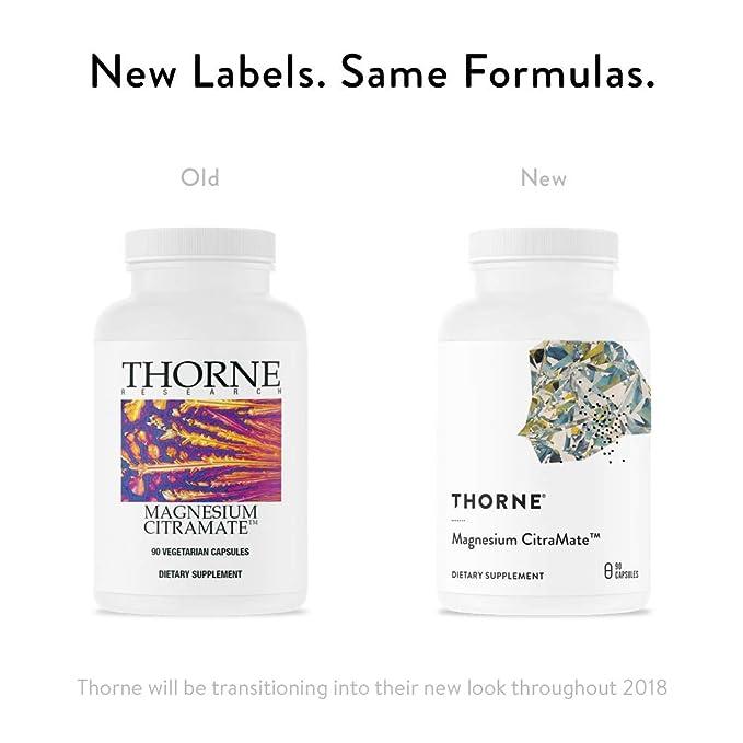 Suplemento de magnesio con citrato-malate de Thorne Research; 90 cápsulas: Amazon.es: Salud y cuidado personal