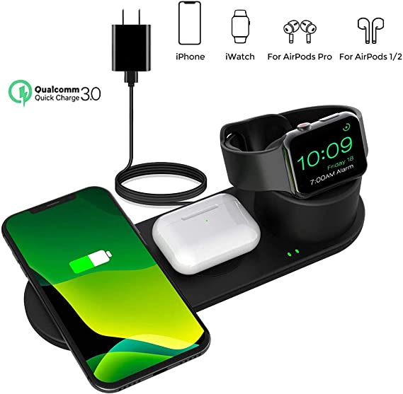 Amazon Com Aresh 3 In 1 Wireless Charging Station Compatible With