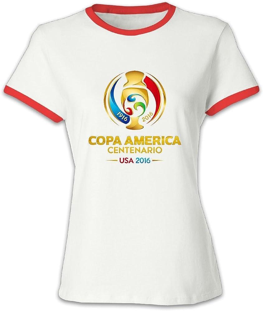 Copa América centenario de la mujer T camisas, color rojo: Amazon.es: Ropa y accesorios
