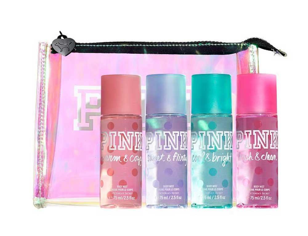 1821edeabb Amazon.com   Victoria s Secret PINK Travel Bag 4PCs Body Mist Gift Set 75  ml   Beauty