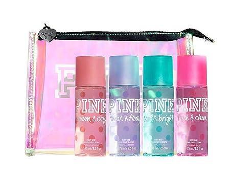 Victoria s Secret PINK Travel Bag 4PCs Body Mist Gift Set 75 ml