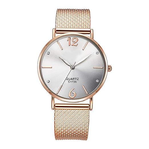 Reloj De Pulsera para Mujer Reloj De Pulsera De Cuarzo Ultrafino para Mujer Simple Fahion Negocio