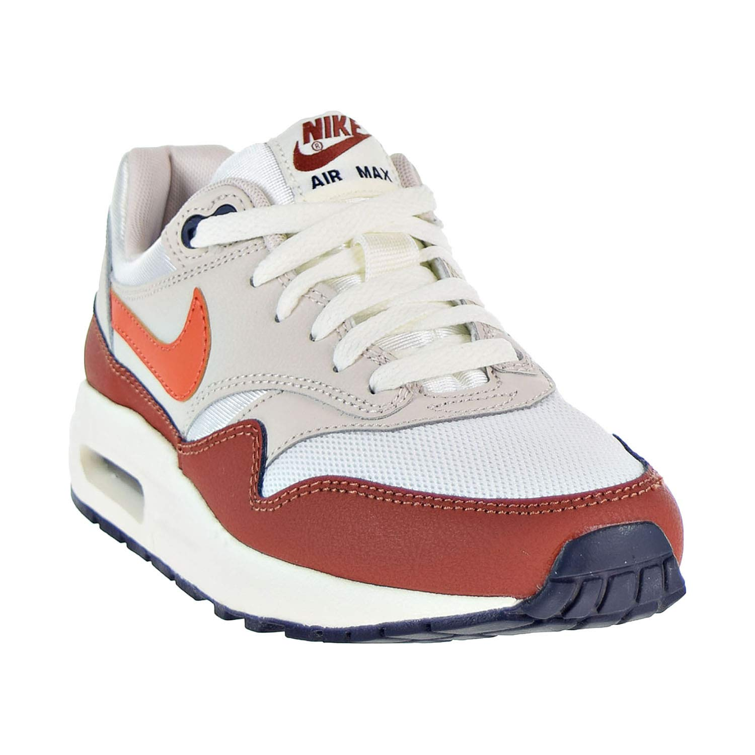 Nike Air Max 1 Boys Shoes SailVintage Coral Mars Stone 807602 103
