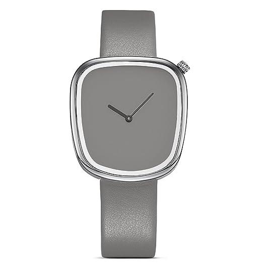 Armband- & Taschenuhren Ladies Leather Fashion Watch With Flower Face White Uhren & Schmuck