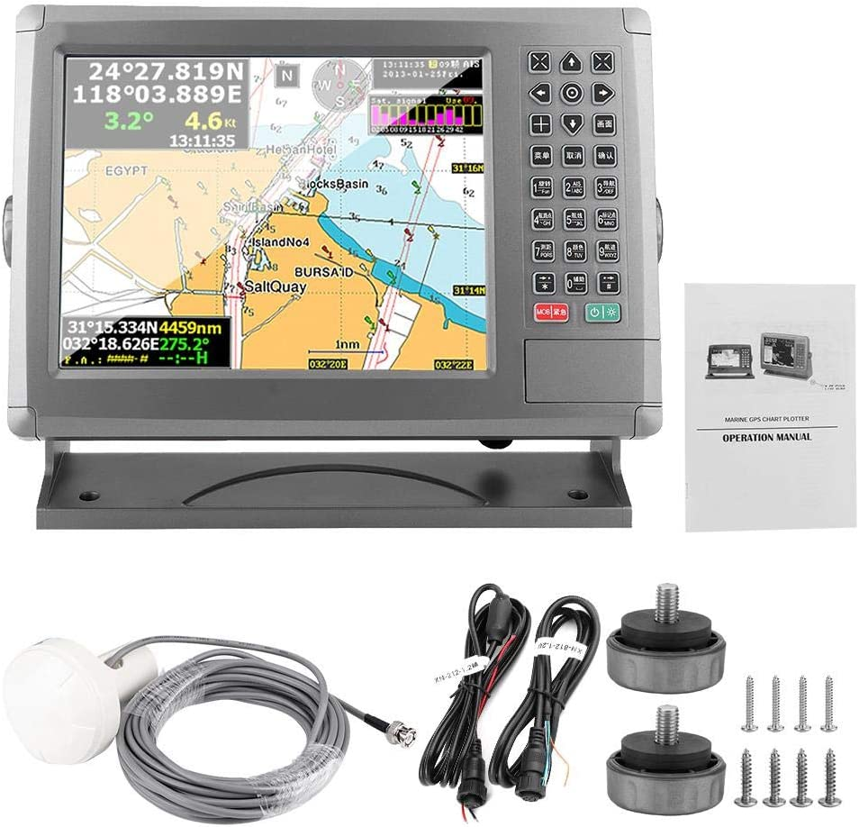 Garmin Striker 10.4in Marine GPS Navigator Tracker XF-1069B AIS Evitación de colisiones Identificación automática Velocímetro Posicionamiento Carta del barco Plotter: Amazon.es: Coche y moto