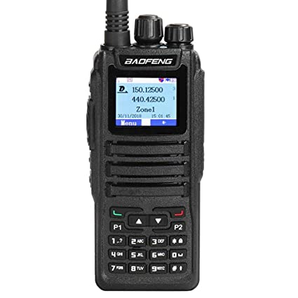 Baofeng DM-1701 Dual Band Dual Time Slot DMR/Analog Two Way Radio, VHF/UHF  3,000 Channels Ham Amateur Radio w/Free Programming Cable, Charger and PTT