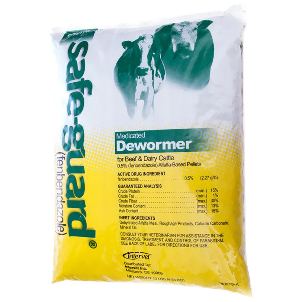 SafeGuard 0.5 Pellets for Cattle (10 lbs)