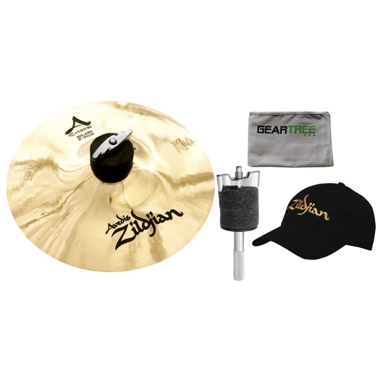 Zildjian A20540B8 A Custom 8'' Splash Cymbal w/ 4'' Cymbal Stacker by Avedis Zildjian Company