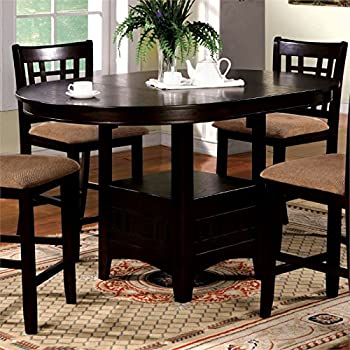 Furniture Of America Koline Round Counter Height Table In Espresso