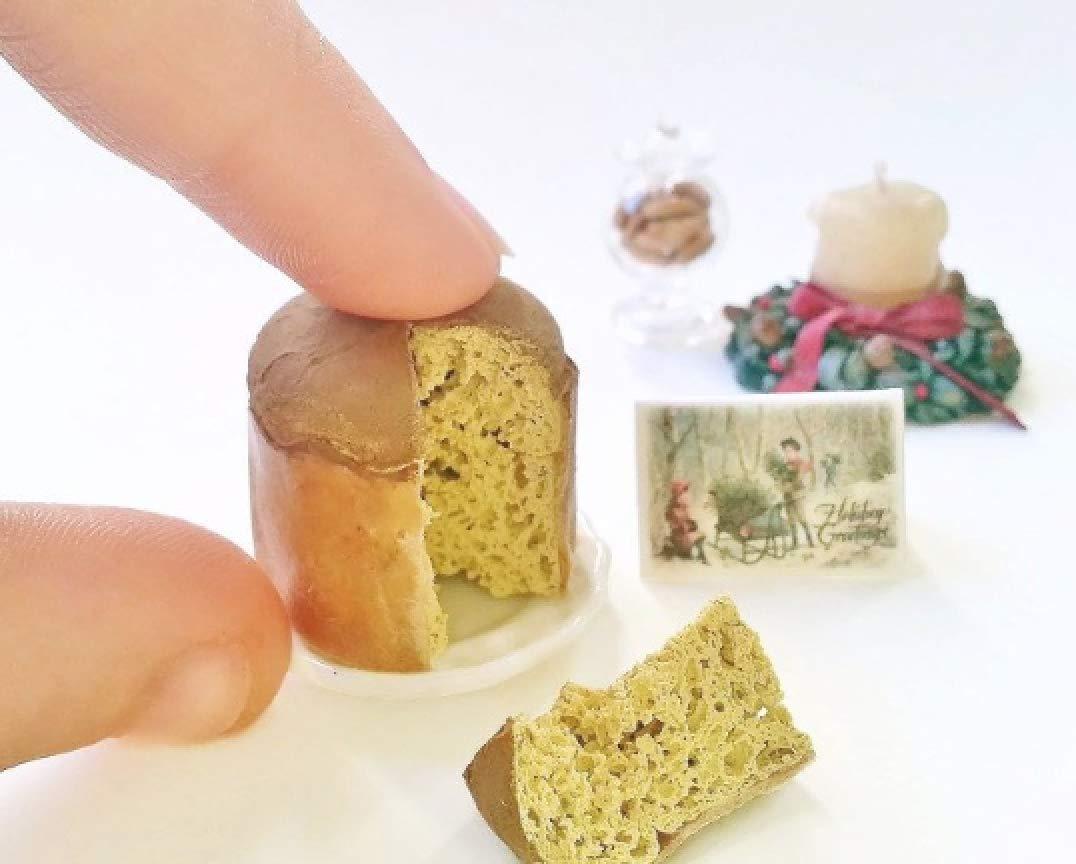 Miniature Christmas Panettone scale 1:12