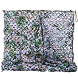 NINAT Camo Netting 6.5x10ft Digital Woodland Camouflage Net for Camping Military Hunting Shooting Multicolor Sunscreen Nets