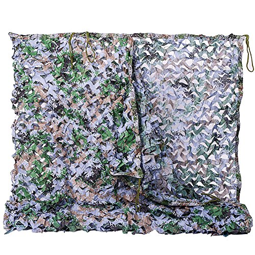 NINAT Camo Netting 6.5x10ft Digital Woodland Camouflage Net For Camping Military Hunting Shooting Multicolor Sunscreen Nets (Digital Screen Shade)