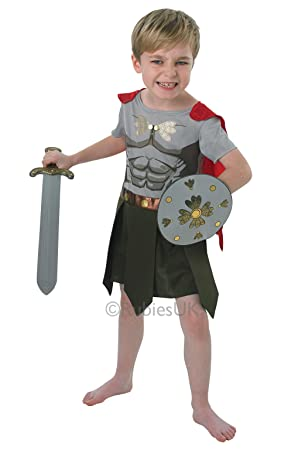 Gladiador - Childrens Disfraz - Medium - 116cm: Amazon.es ...