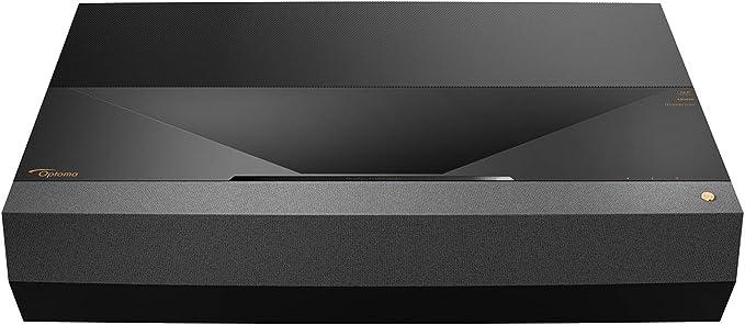 Optoma CinemaX P1 4K UHD Laser TV Home Theater Projector   Bright 3000 Lumens   Ultra Short Throw   Integrated NuForce Soundbar   Stream Netflix and ...