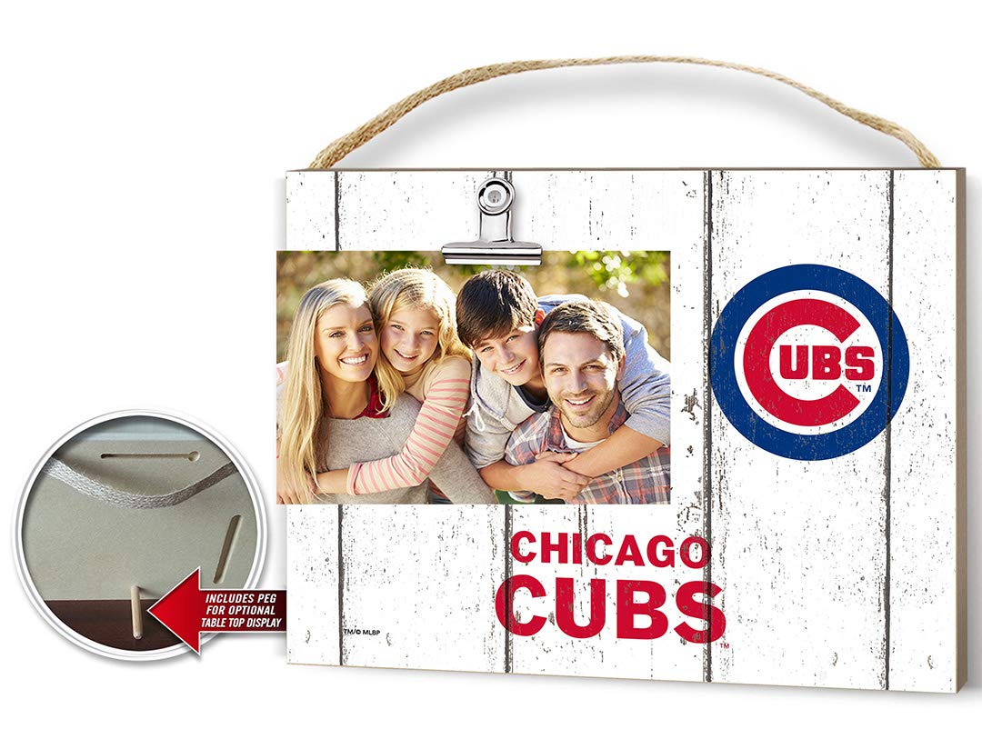 KH Sports Fan Weathered Clip It Photo Frame Chicago Cubs by KH Sports Fan