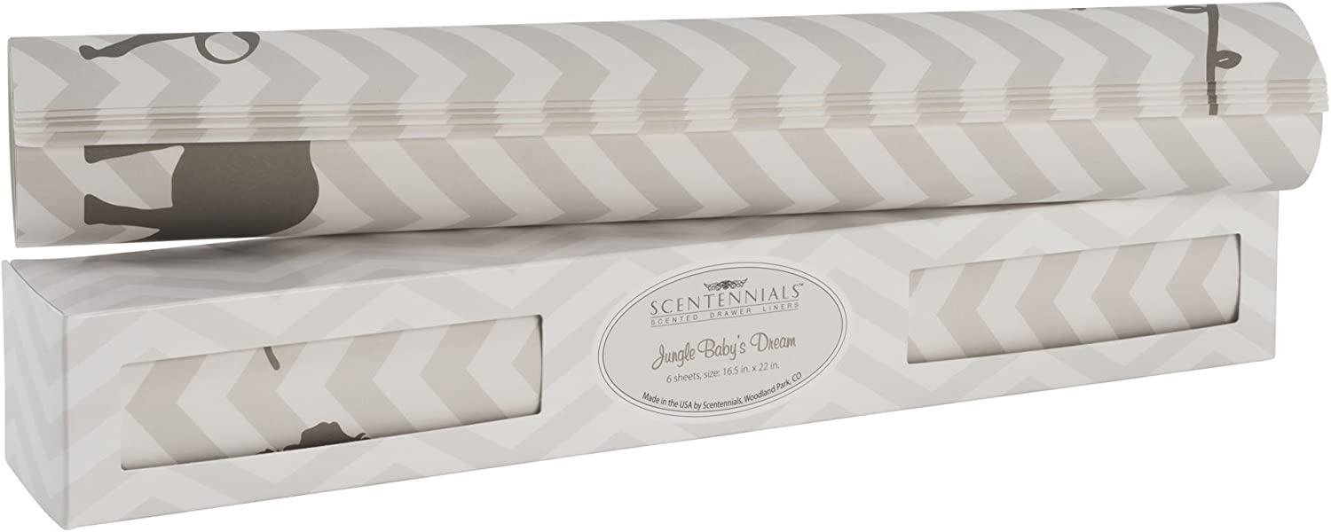 Scentennials Jungle Baby's Dream (6 Sheets) Scented Drawer Liners