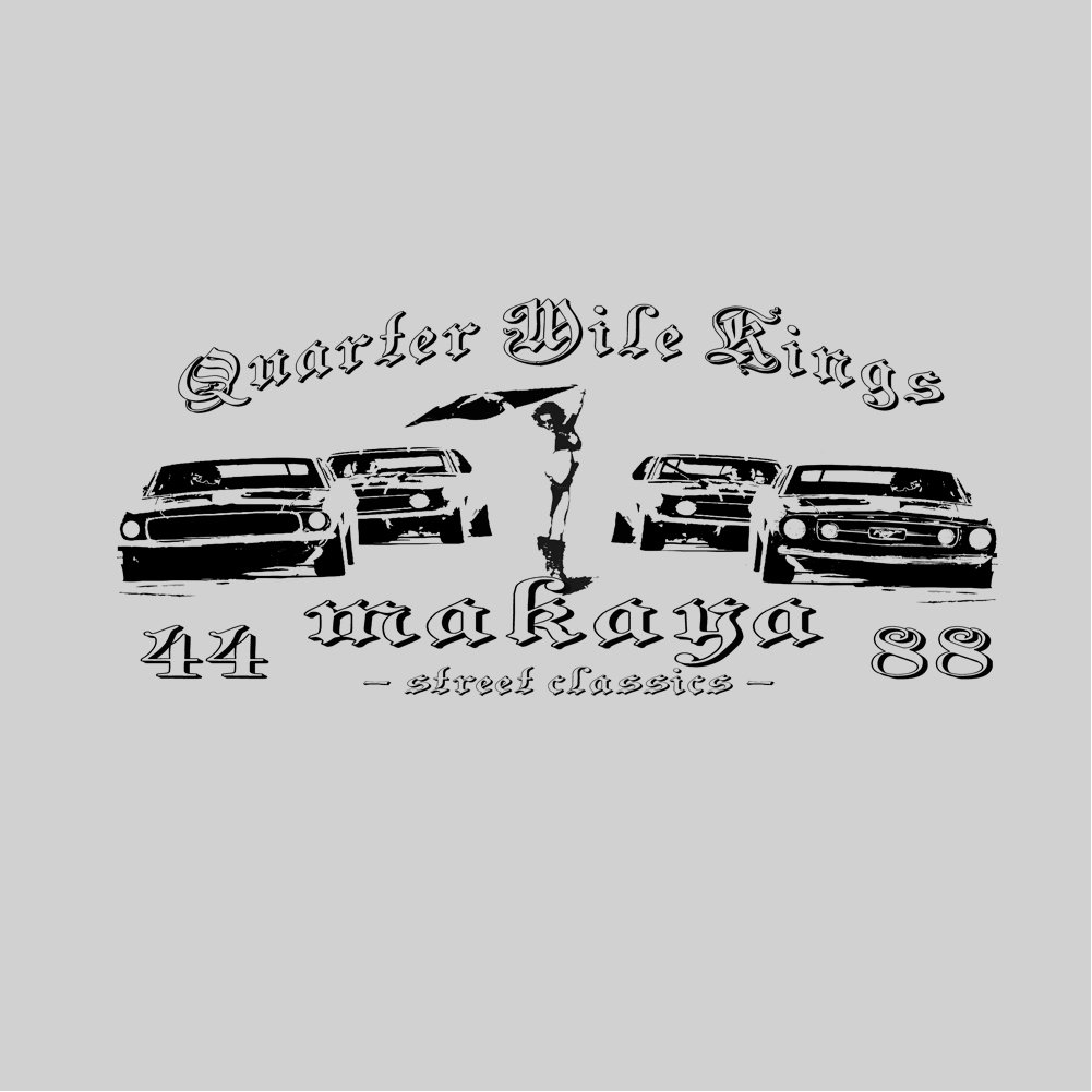 Camisetas Coches Clasicos - QUARTER MILE RACE: Amazon.es: Ropa y accesorios